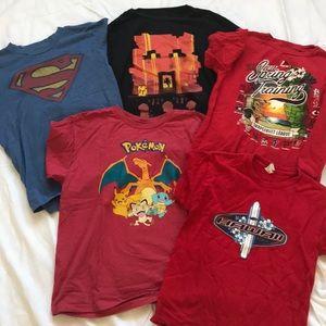 Other - Set of 5 boys Medium (10-12) t-shirts